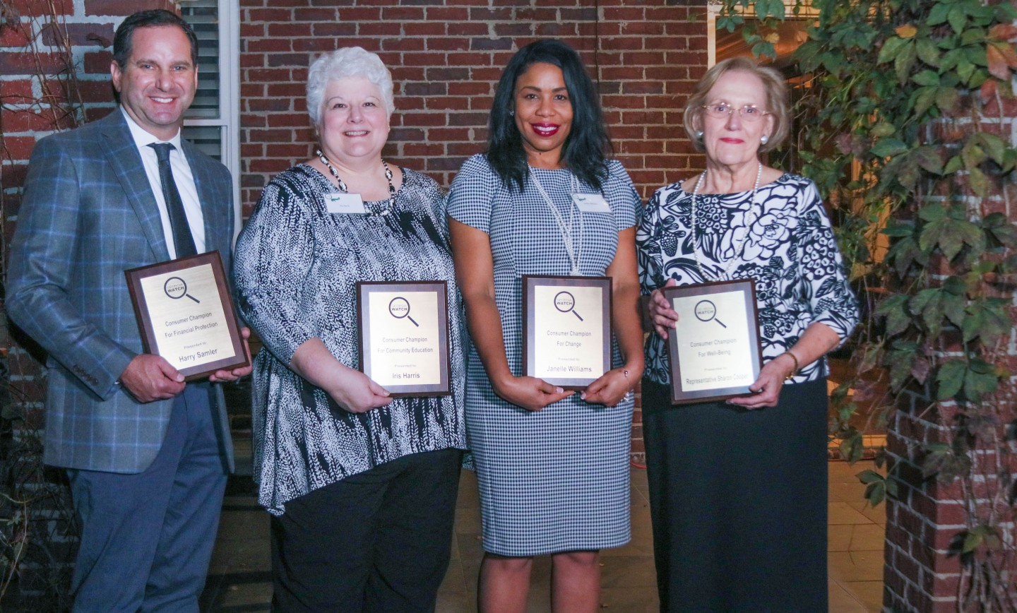Fayette Senior Services' Iris Harris presented with Consumer Champion Award